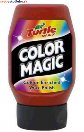 Farebný vosk COLOR MAGIC TURTLE WAX - Červený 300ML
